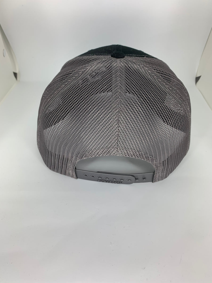 Structured Snap-Back Dark Grey Splatter Logo