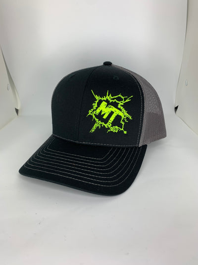 Structured Snap-Back Fluorescent Yellow Splatter Logo