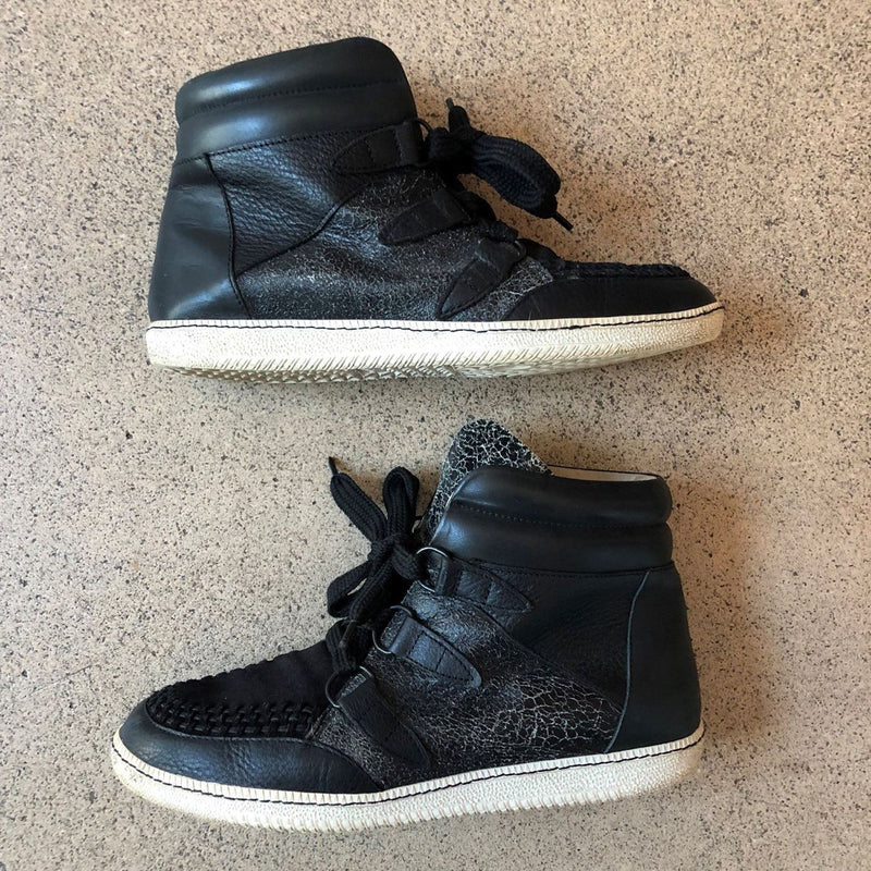 SANDRO High-Top Sneakers