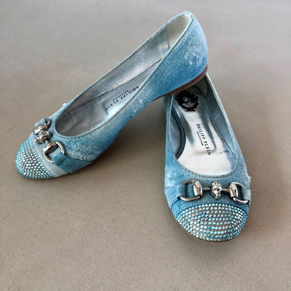 PHILIPP PLEIN Denim Ballerinas