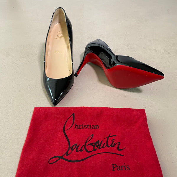 neue CHRISTIAN LOUBOUTIN Lackleder High Heels