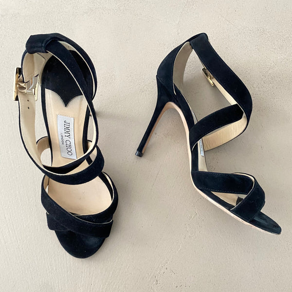 JIMMY CHOO Suede High Heels Sandalen