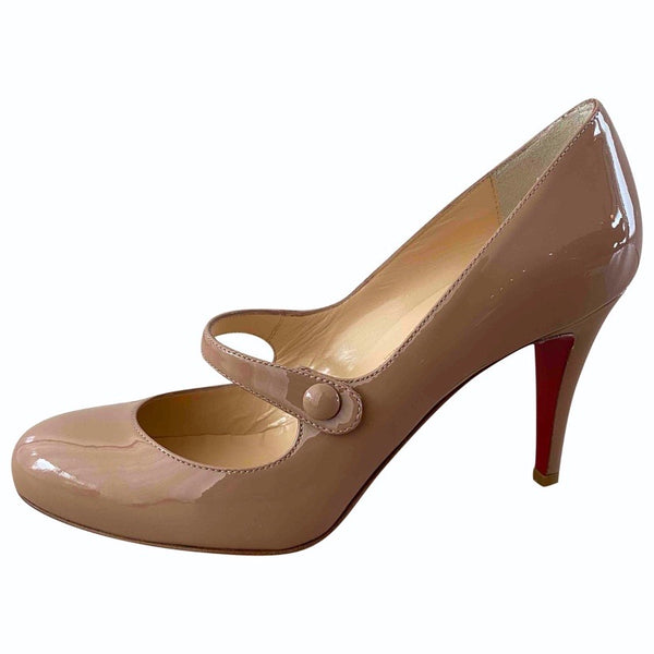 neue CHRISTIAN LOUBOUTIN Lackleder Pumps