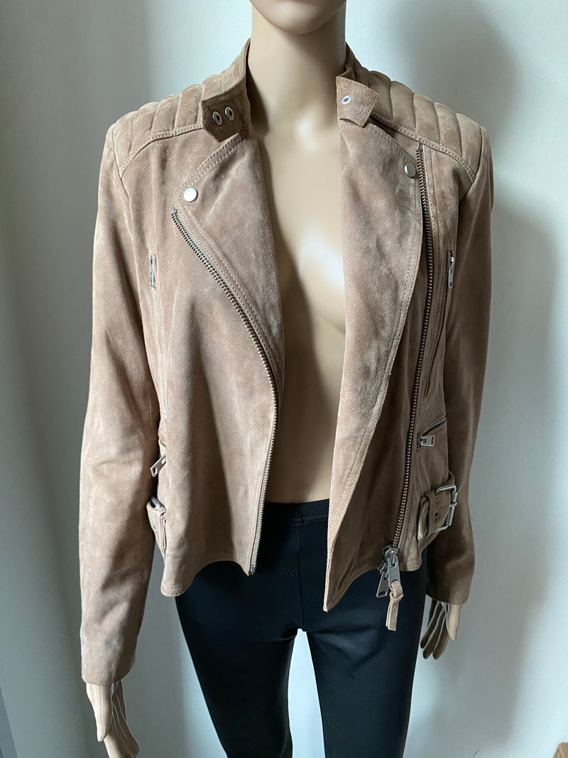 ALL SAINTS Velours Lederjacke