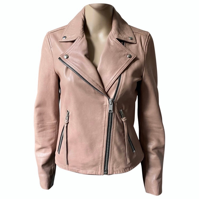 ALL SAINTS Lederjacke