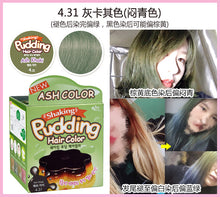 Load image into Gallery viewer, 韩国 DONG SUNG PHARM EZN 布丁摇摇染发膏 4.31 Ash Khaki