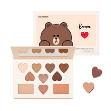 Load image into Gallery viewer, Korea Color Filter Shadow Palette No. 5 Shy Shy Brown (LINE FRIENDS Edition)