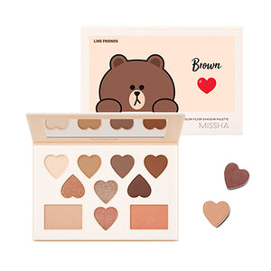 Korea Color Filter Shadow Palette No. 5 Shy Shy Brown (LINE FRIENDS Edition)