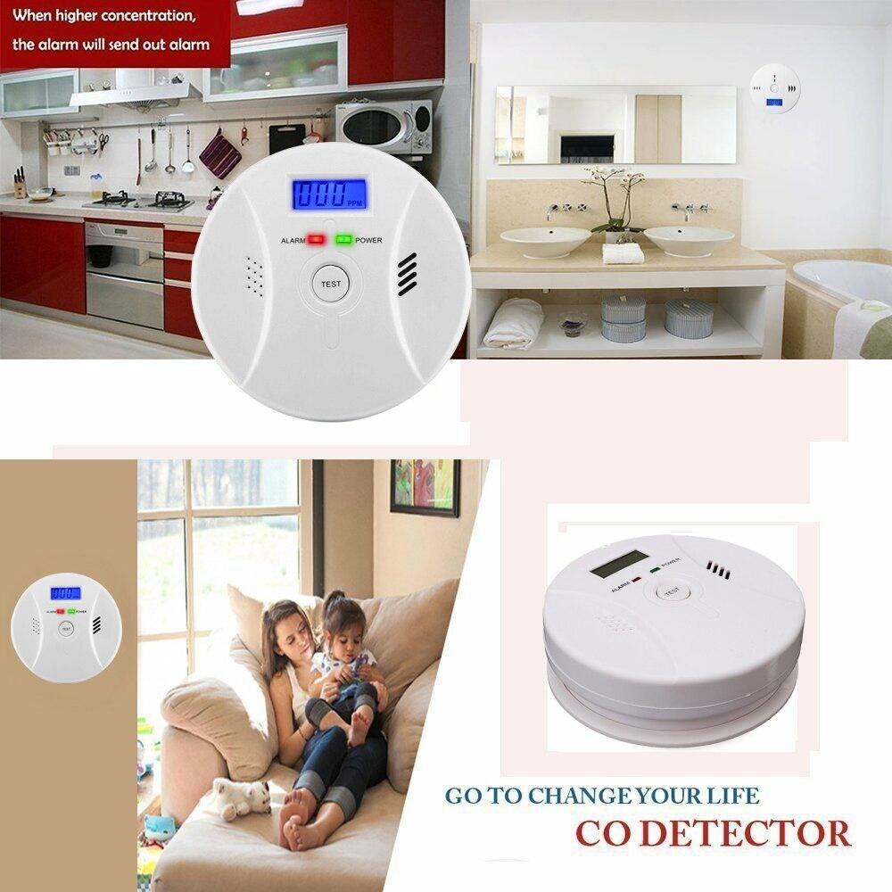 CO-Control™ Carbon Monoxide Smoke Detector Alarm Sensor Kitchen Bedroom Security - Shopcytee