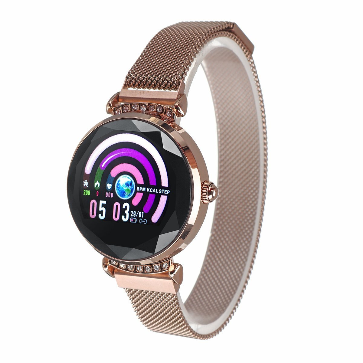 CycleControl™ Elegant Smart Watch with Menstrual Reminder Heart Rate Waterproof Wristband