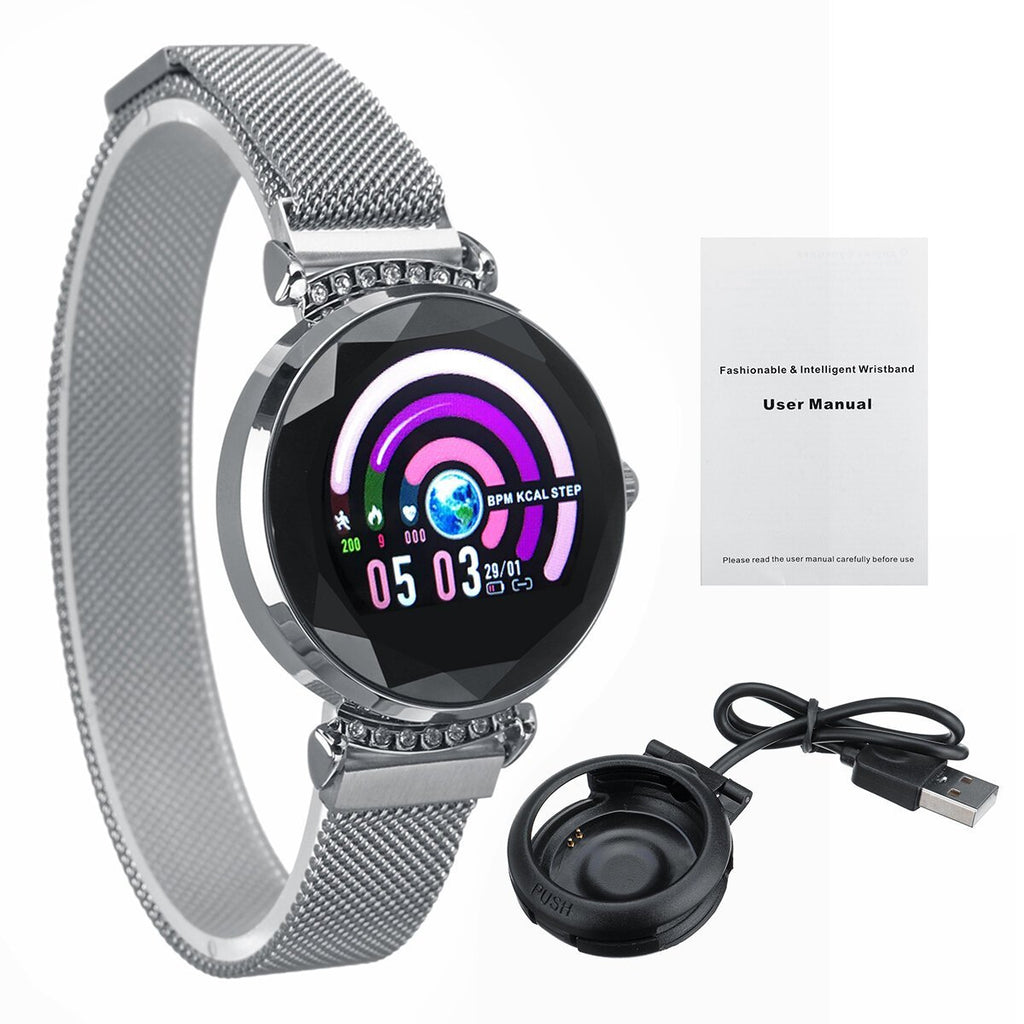 CycleControl™ Elegant Smart Watch with Menstrual Reminder Heart Rate Waterproof Wristband - Shopcytee