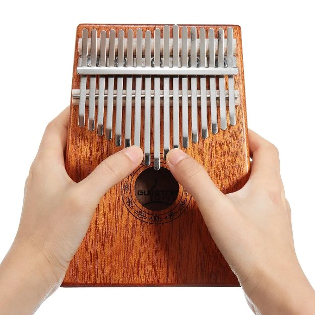 Guistar™ 17 Keys Wood Kalimba Mahogany Thumb Piano With Tuning Hammer