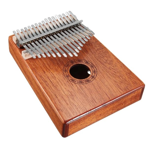 Guistar™ 17 Keys Wood Kalimba Mahogany Thumb Piano With Tuning Hammer - Shopcytee