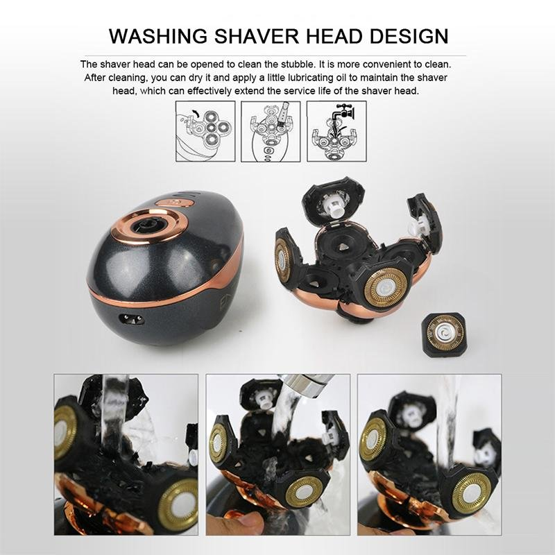 HairUp™ 5 Floating Shaver Heads Waterproof Electric Razor Hair Trimmer Cordless Clipper - Shopcytee