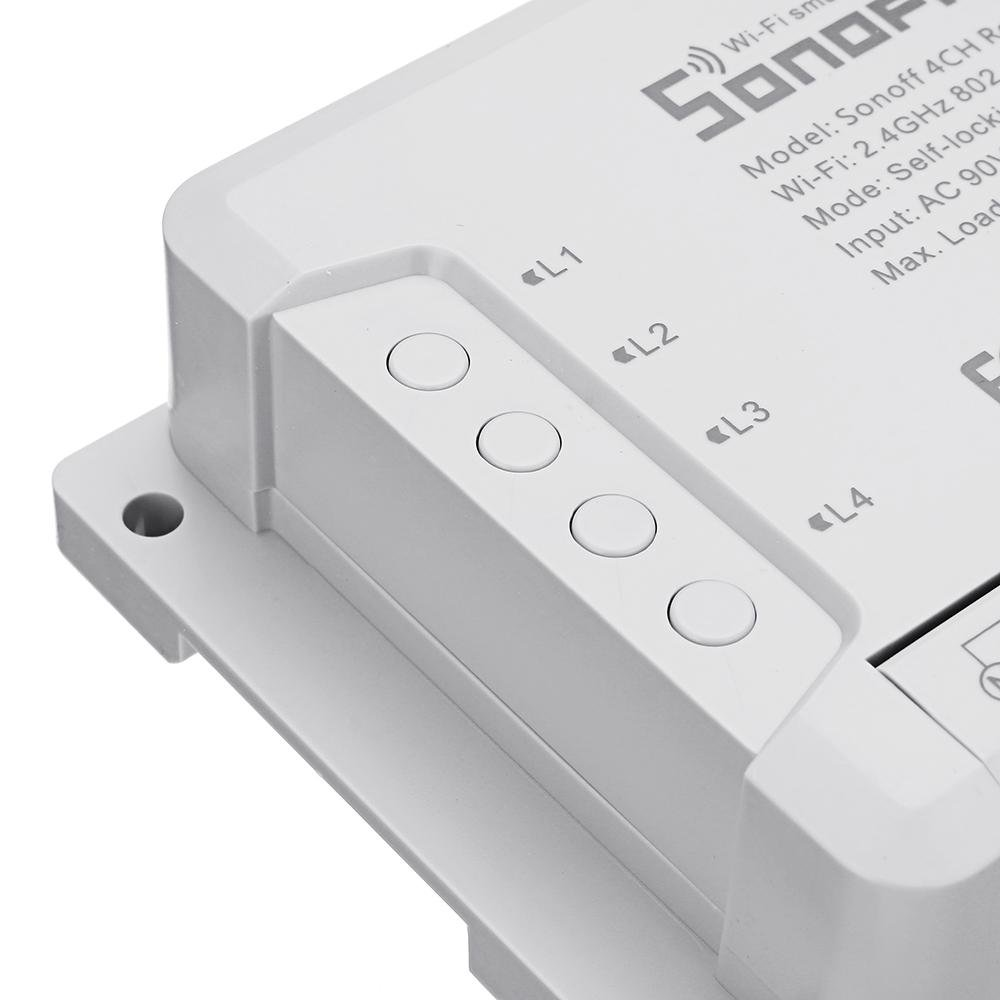 SOnOFF® Smart Home Remote Control  4 Channel R2 WIFI Switch Automation Module - Shopcytee