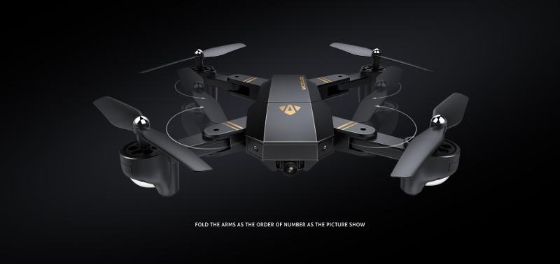VisuoDrone™ Drone Quadcopter with Wide Angle HD Camera & Foldable Arm - Shopcytee
