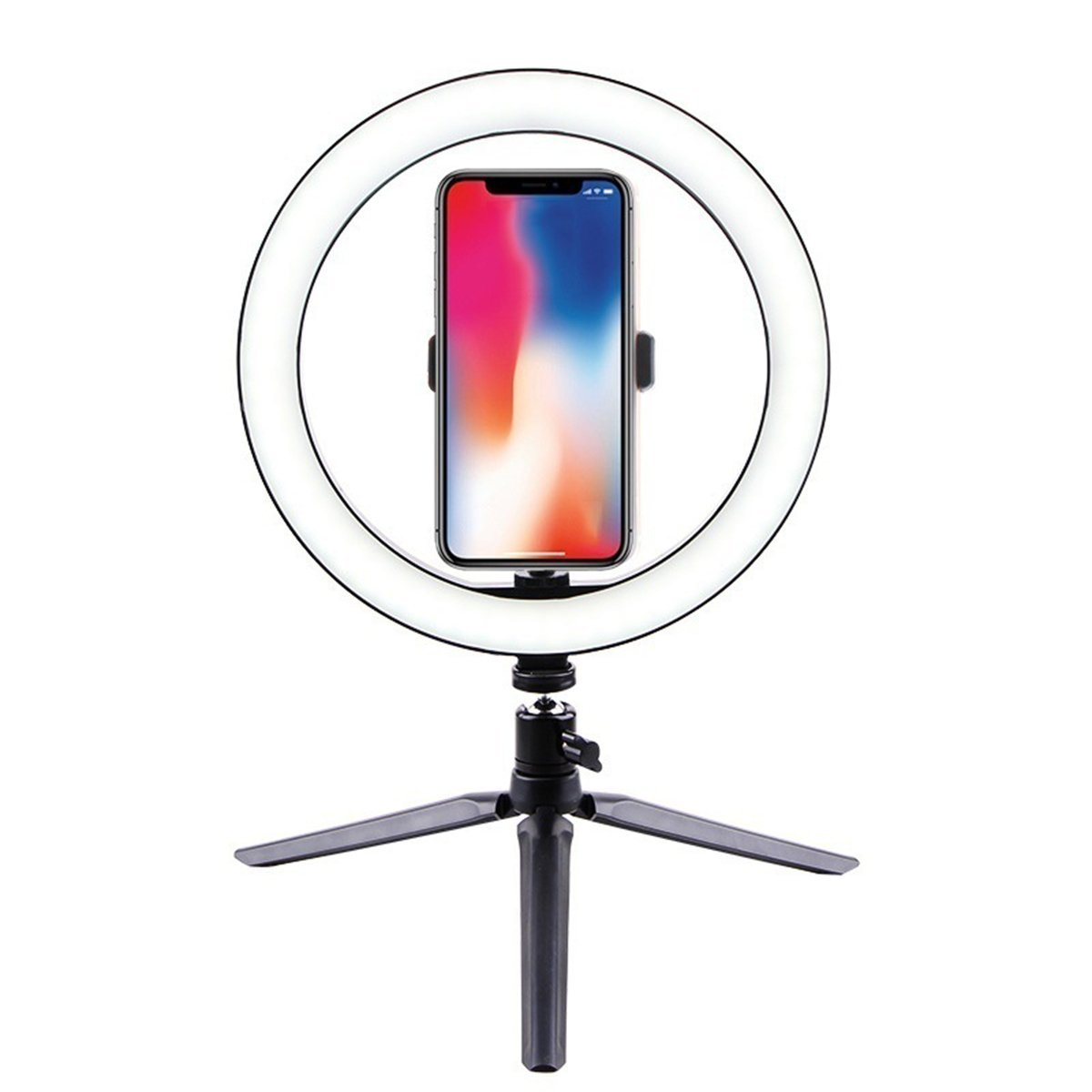 VlogMe™ Portable Ring LED Light for Vlogger and Makeup Phone Holder Lamp