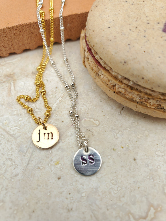Personalized Initial Necklace_By: Samantha Slater Studio