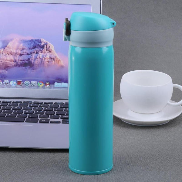 450ml Travel Mug Water Thermos Stainless Steel Double Wall Thermal Cup Bottle Vacuum Cup School Home Tea Coffee Drink Bottle - Thiago1978
