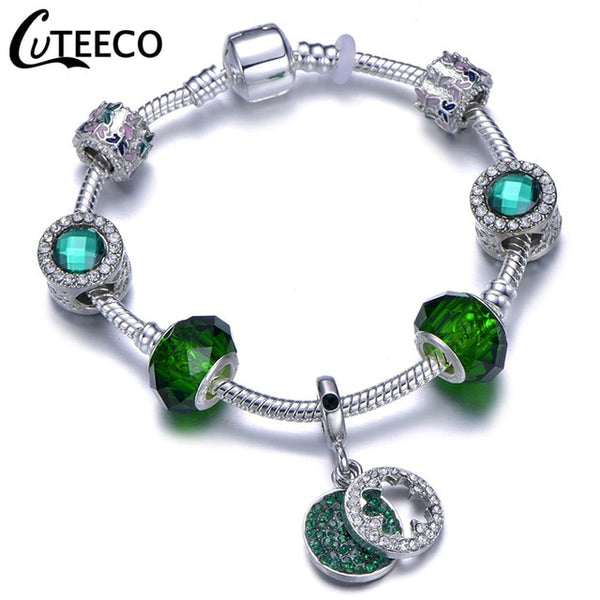 Bracciale Bangle per le donne - Fiore di cristallo