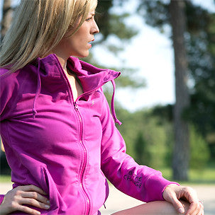 magenta be the change relaxed fit hoodie