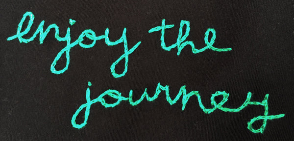 enjoy the journey long luxe tank