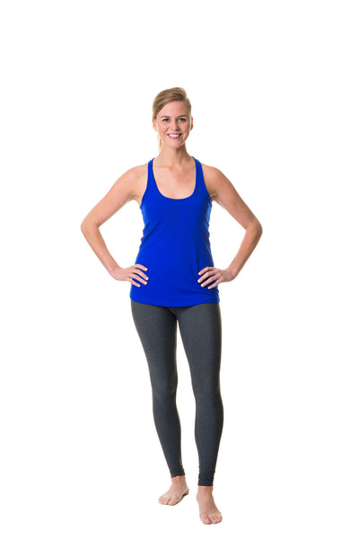 cobalt blue happiness is the path racer tank