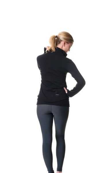 black be the change athletic fit jacket