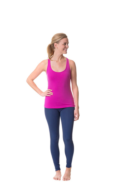magenta happiness is the path racer tank