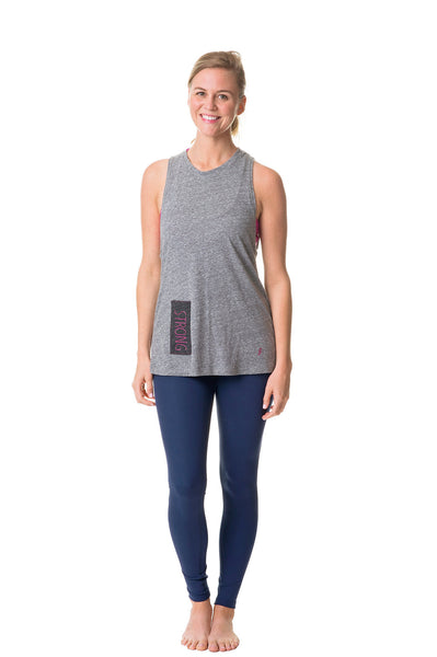 heather gray strong muscle tank
