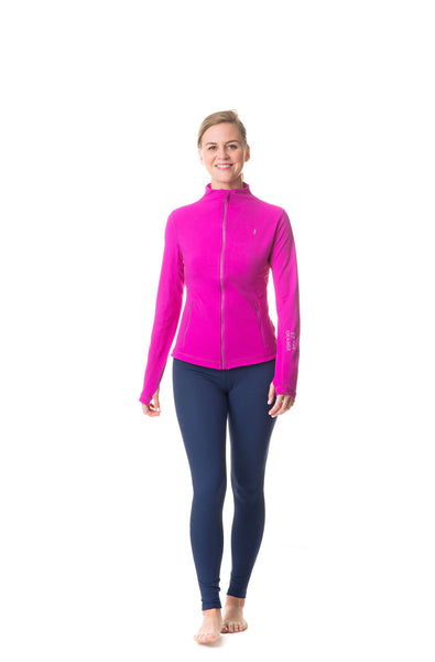 magenta be the change athletic fit jacket