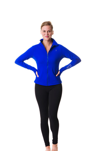 cobalt blue be the change athletic fit jacket