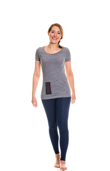 heather gray breathe scoop neck tee