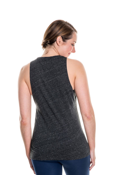 charcoal strong muscle tank
