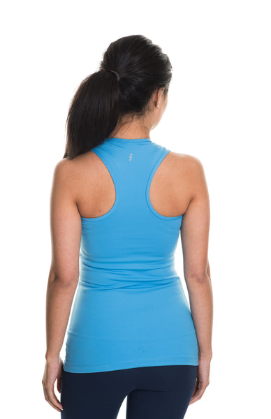 light blue balance long luxe tank