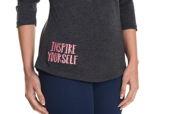 inspire yourself 3/4 sleeve tee