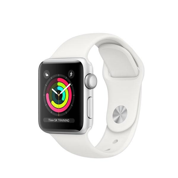Apple Watch Series 3 GPS - 38mm - Silver Aluminium - White Sport Band