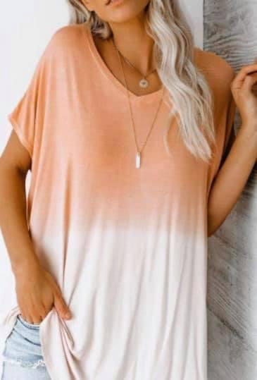 Orange Ombre Top