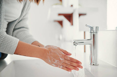 washing hand with welqueen brand faucets