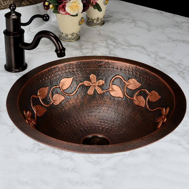 Classical Brass Sink | European Wash Basin | Antique Copper Basin Vintage Copper Basin Art Basin - WELQUEEN