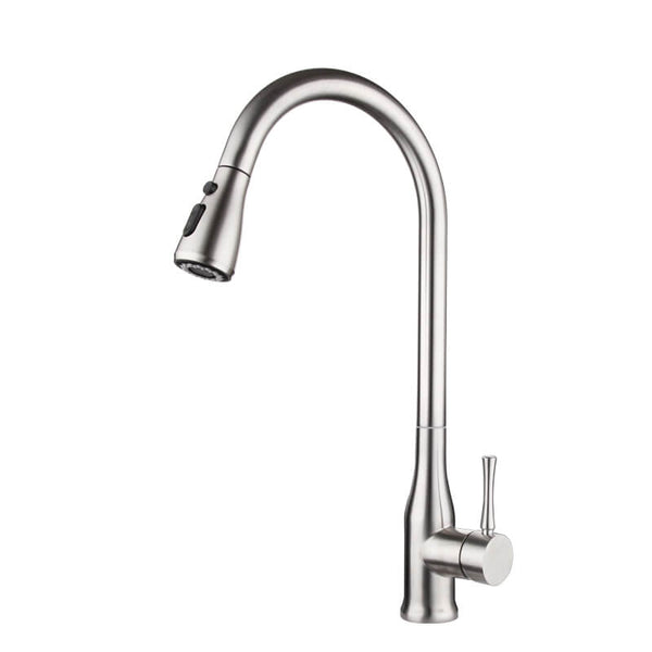 Stainless Steel Pull Out Kitchen Faucet | Single Handle Kitchen Faucet | Multi-Function 360 Degree Swivel Kitchen Sink Faucet - WELQUEEN