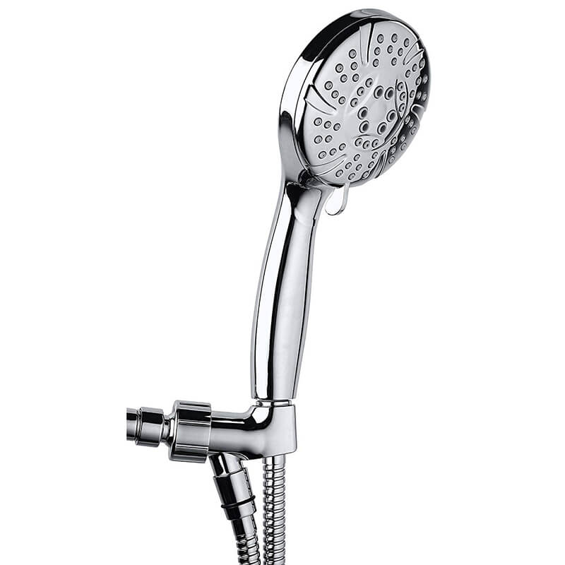 Hand Shower | 6 Function High Pressure Hand Shower Head | Handheld Shower Head Chrome Finished with Hose and Adjustable Bracket - WELQUEEN