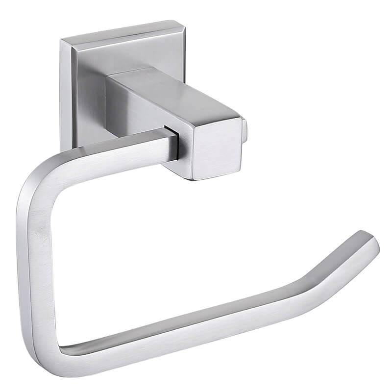 Toilet Paper Holder | 304 Stainless Steel Toilet Roll Paper Holder | Wall Mounted Toilet Paper Holder Brush Nickel Finished - WELQUEEN