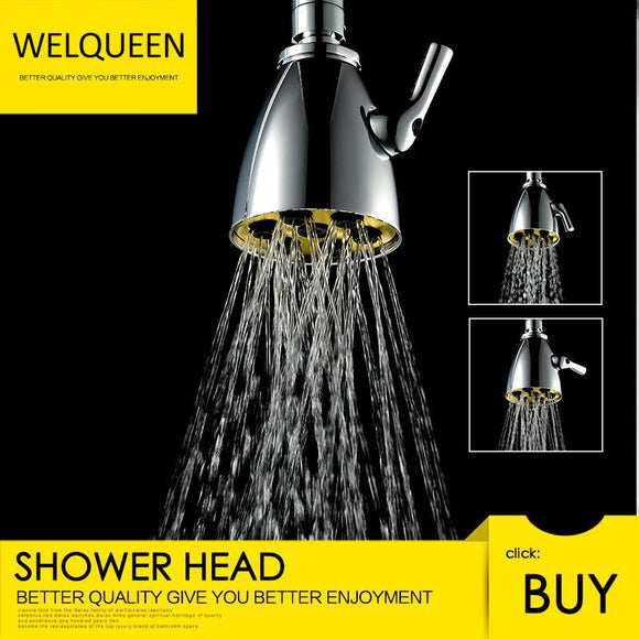 Free Shipping Brass Chrome Rain Shower Head Wall Mounted High Pressure Shower Head Rainfall 2 Jets Shower Head - WELQUEEN