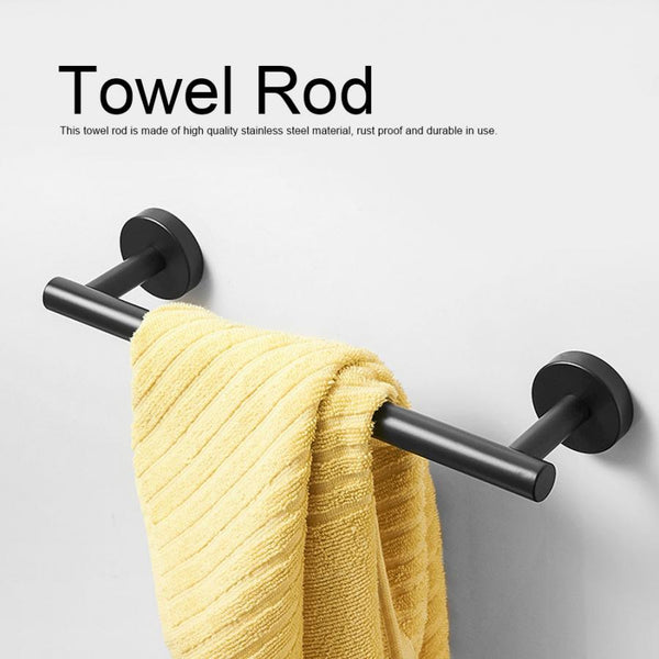 Bathroom Towel Bar | Stainless Steel Towel Bar Holder | Single Towel Rod - WELQUEEN