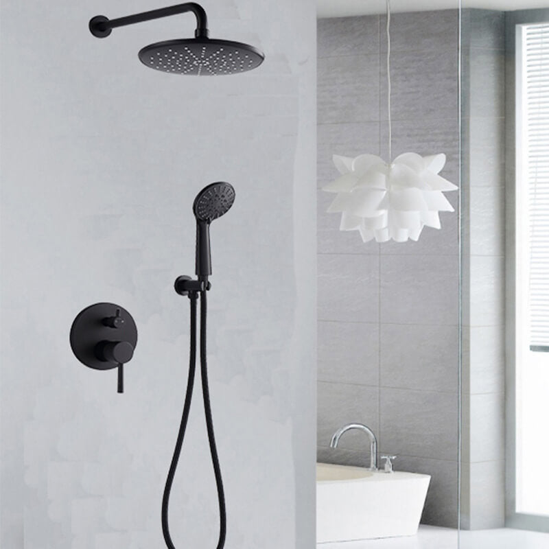 Wall Mounted Concealed Shower Faucet Set | Bathroom High Pressure 8  Rain Shower Head | 3-Setting Handheld Shower Head Set - WELQUEEN