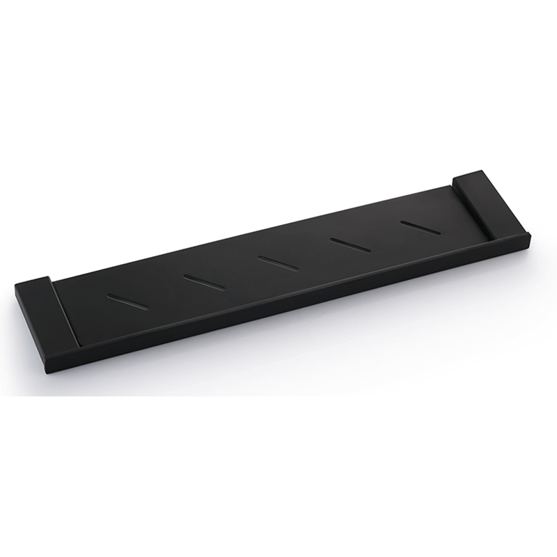 578mm Stainless Steel Metal Shelf | Square Style Black Matt Metal Shelf | Bathroom Metal Shelf Holder Wall Mounted - WELQUEEN
