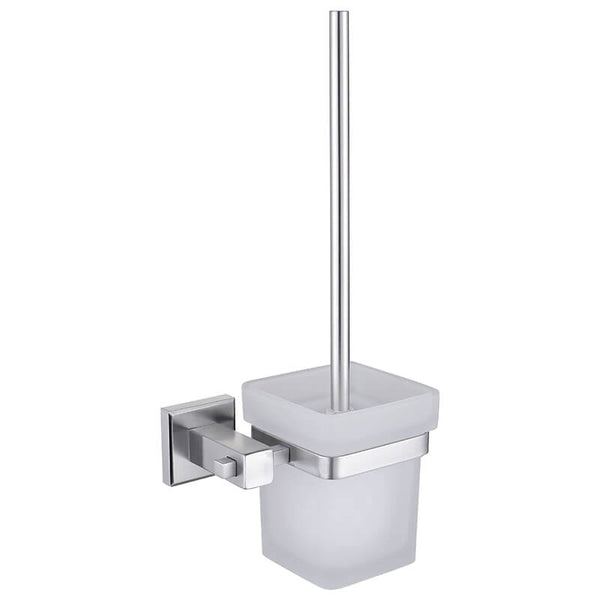 Toilet Brush Holder | Wall Mounted Toilet Brush Holder | SUS 304 Stainless Steel Bathroom Toilet Brush Holder - WELQUEEN