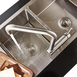 Stainless Steel Kitchen Faucet Lead-free Folding Mixer 360 Degree Swivel Single Handle Nickel Kitchen Sink Taps - WELQUEEN