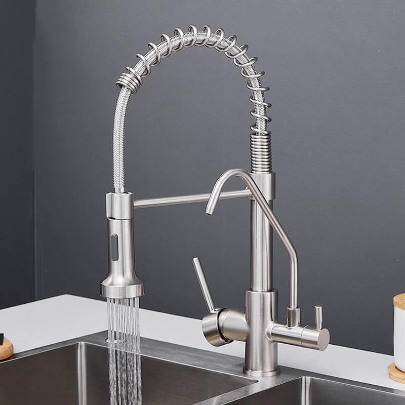 Kitchen Faucets Crane Wall-Mounted Kitchen Tap For Kitchen Water Filter Tap Three Ways Sink Mixer Kitchen Faucet - WELQUEEN